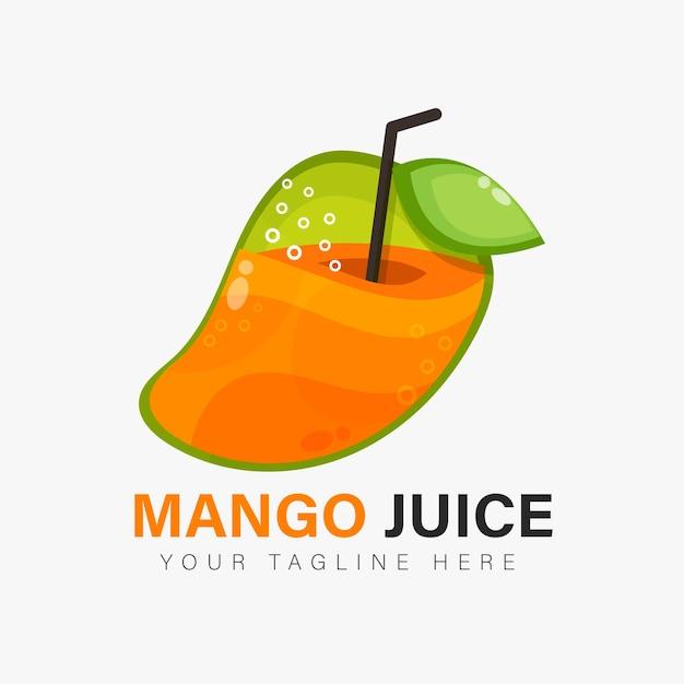 Design del logo di succo di mango