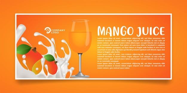 Design di banner prodotto succo di mango