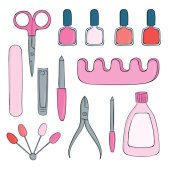 Collezione di strumenti per manicure