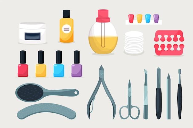 Concetto di strumenti per manicure