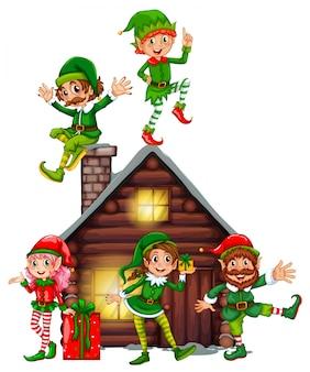 Molti elfi sulla cabina