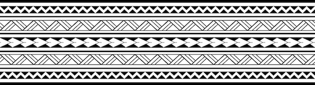 Braccialetto tatuaggio polinesiano maori. manicotto tribale senza cuciture vettore.