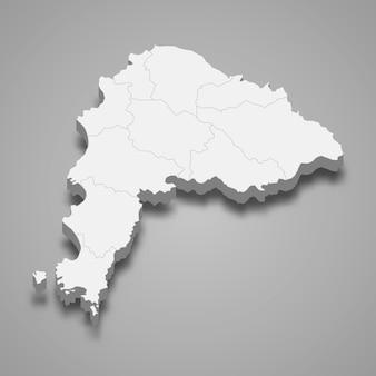 Mappa di chonburi è una provincia della thailandia