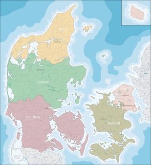 Mappa della danimarca