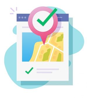Mappa posizione gps online e puntatore pin digitale icona di destinazione web internet con sito web mobile indicatore di posizione di navigazione o roadmap nuovo percorso locale isolato design moderno