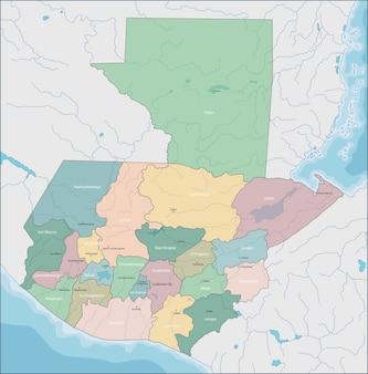 Mappa di guatemala