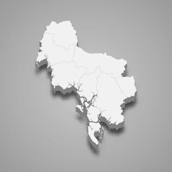 Mappa di krabi è una provincia della thailandia