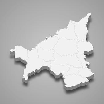 Mappa di loei è una provincia della thailandia