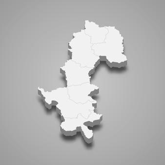 Mappa di mae hong son è una provincia della thailandia