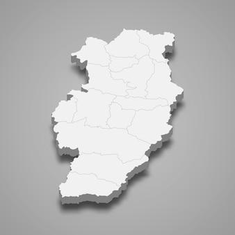 Mappa di nan è una provincia della thailandia