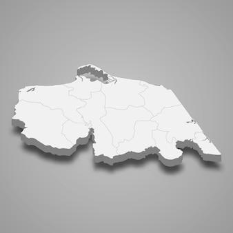 Mappa di pattani è una provincia della thailandia