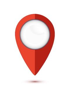 Mappa pin design piatto stile moderno icona puntatore minimo vettore simbolo marcatore segno