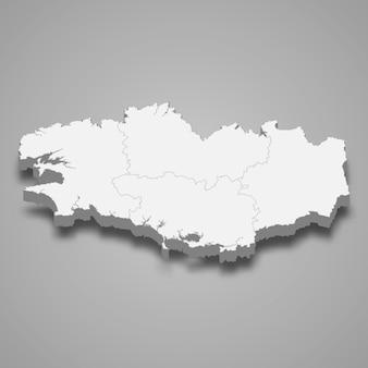 Mappa regione della francia