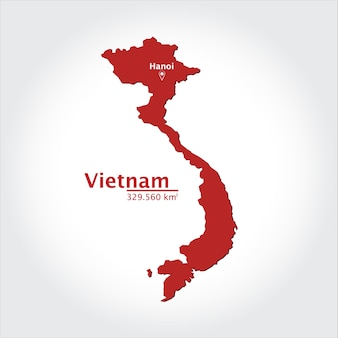 Mappa del vietnam