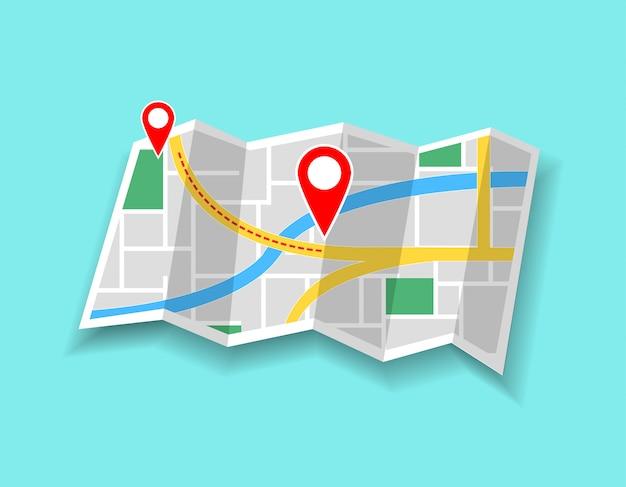 Mappa con marcatori