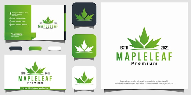 Foglia d'acero canada logo design vector