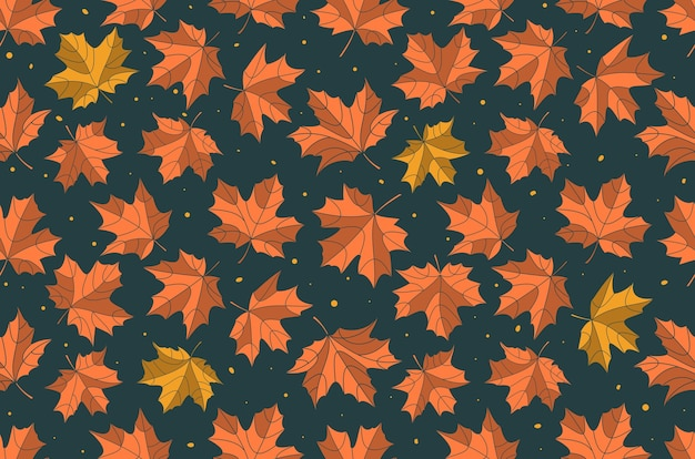 Modello di foglie di acero