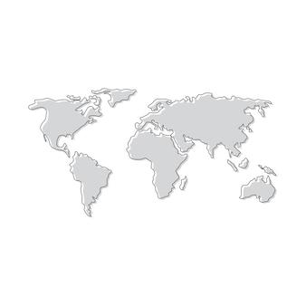 Mappe icona logo design illustrazione