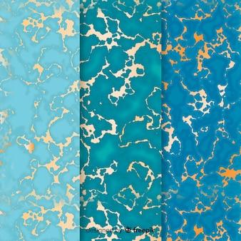 Set di sfondo di marmo