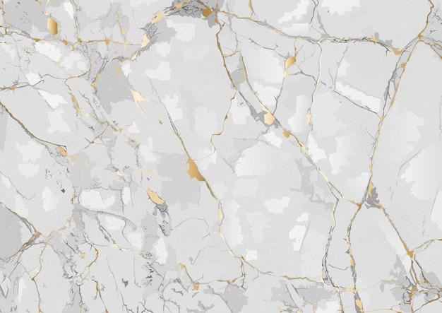 Sfondo in marmo con trama venata d'oro