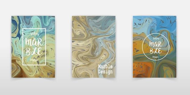 Fondo di carta del modello di marmo. insieme di carte d'avanguardia creativo. bande ondulate, texture glitch.
