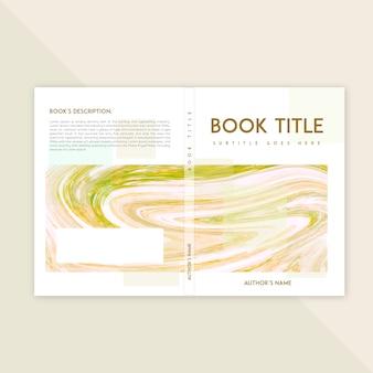 Modello di copertina del libro con texture in marmo