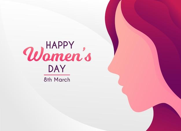 Fondo dell'illustrazione dell'estratto di pendenza di celebrazione della giornata internazionale della donna dell'8 marzo