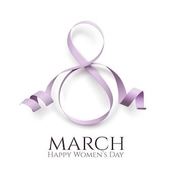 Sfondo della giornata internazionale della donna di marzo. modello di biglietto di auguri.