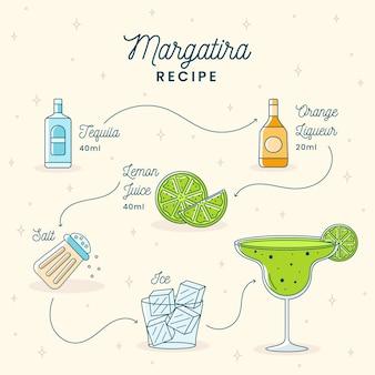 Disegno ricetta cocktail margarita