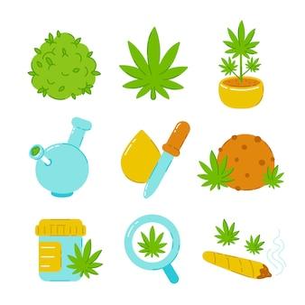 Set di erba di marijuana