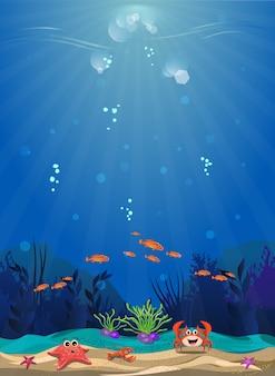 Habitat marini e la bellezza delle barriere coralline
