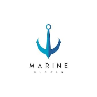 Logo marino, ispirazione per il design del simbolo dell'ancora