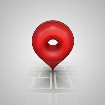 Segna sul puntatore della mappa. illustrazione vettoriale