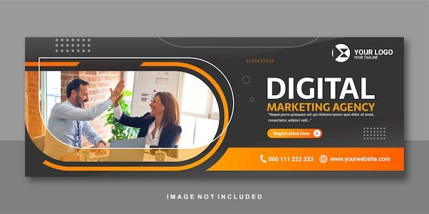Agenzia di marketing banner facebook design premium