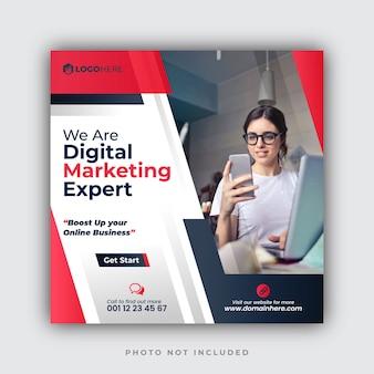 Modelli di post instagram dell'agenzia di marketing