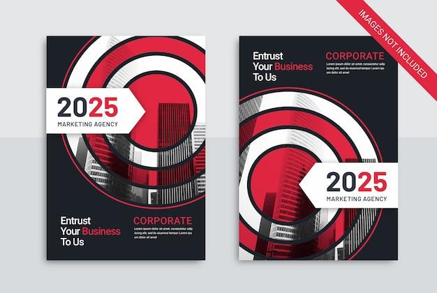 Libro di copertina aziendale modello agenzia di marketing