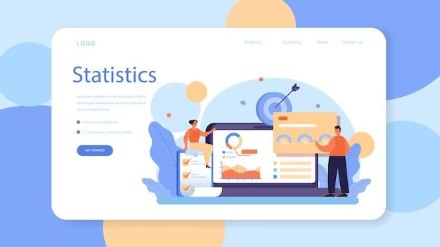 Banner web o landing page di analisi di marketing