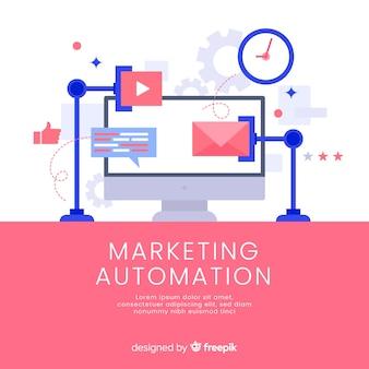 Modello di sfondo per l'automazione del marketing