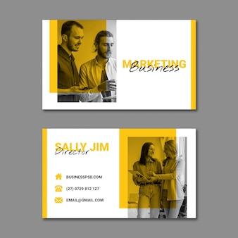 Modello di biglietto da visita di marketing