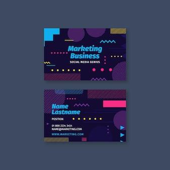 Biglietto da visita fronte-retro per attività di marketing
