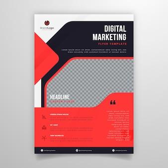 Volantino aziendale di marketing