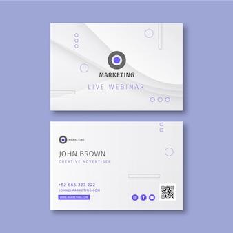 Biglietto da visita orizzontale di attività di marketing