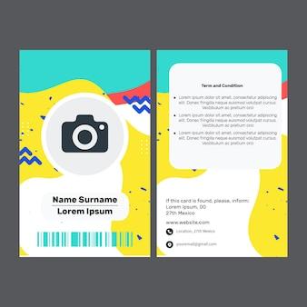 Carta d'identità commerciale di marketing