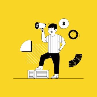Illustrazione di affari di marketing