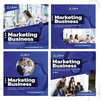 Raccolta di post di instagram aziendali di marketing