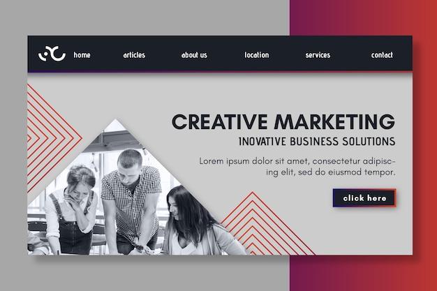 Pagina di destinazione dell'attività di marketing