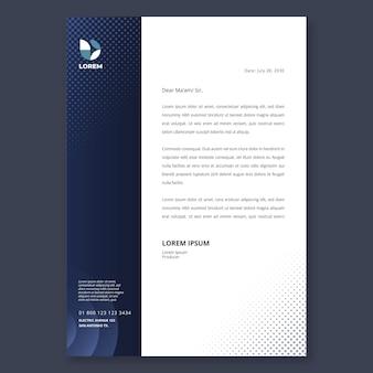 Modello di carta intestata aziendale di marketing