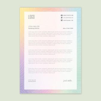 Carta intestata aziendale di marketing