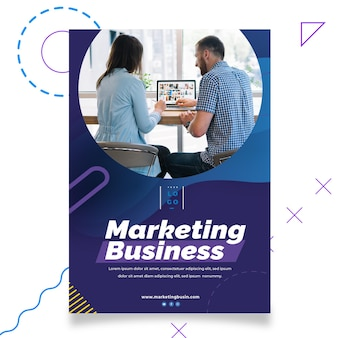 Modello di poster stampa business marketing