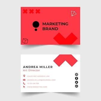 Biglietto da visita modello di business marketing